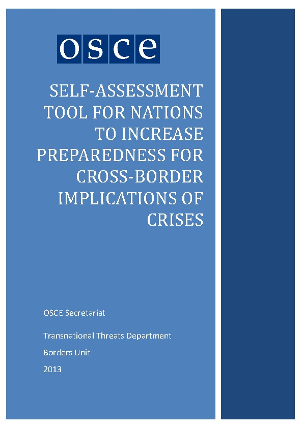 Self-assessment Tool For Nations