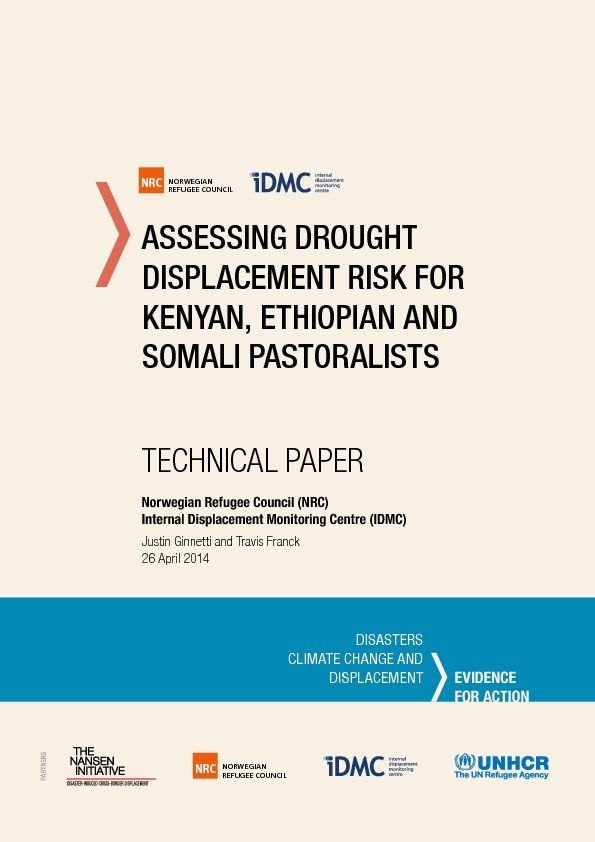 Assessing Drought Displacement Risk For Kenyan, Ethiopian And Somali Pastoralists