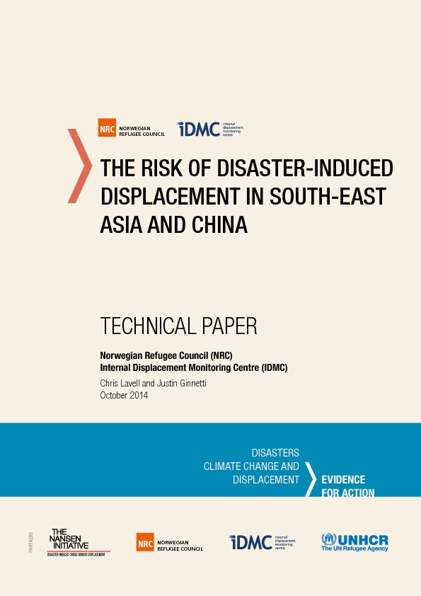 The Risk Of Disaster-induced Displacement In South-east Asia And China