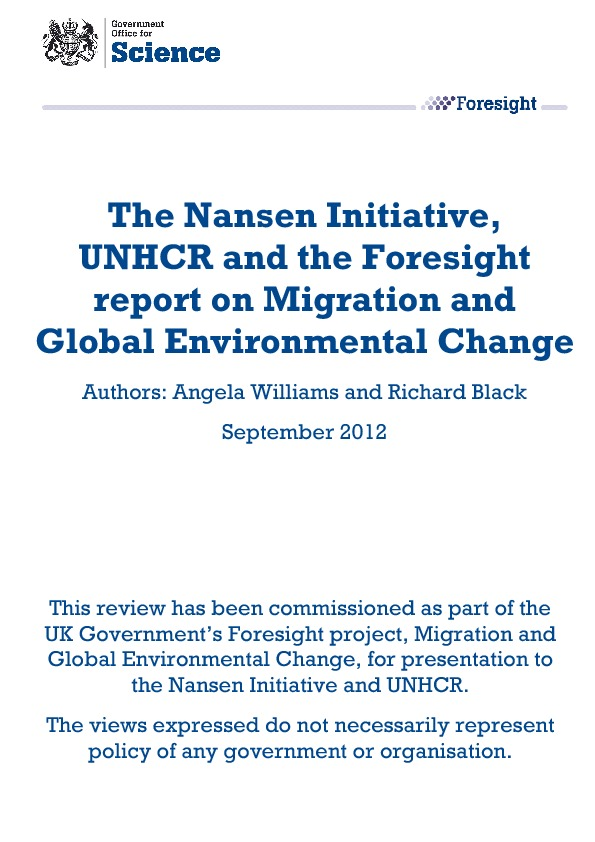 The Nansen Initiative, UNHCR And The Foresight