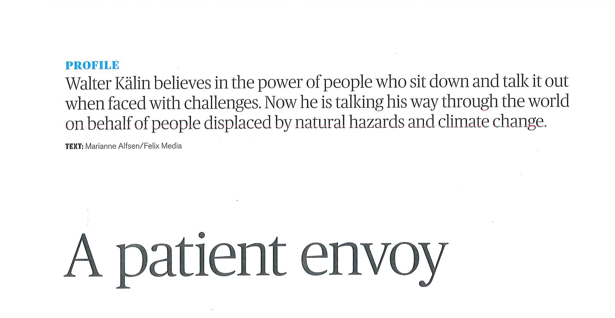 A Patient Envoy