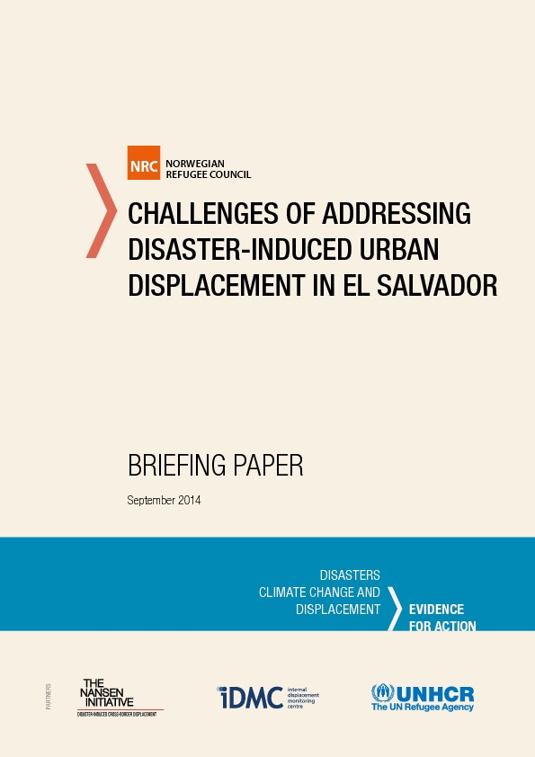Challenges Of Addressing Disaster-induced Urban Displacement In El Salvador