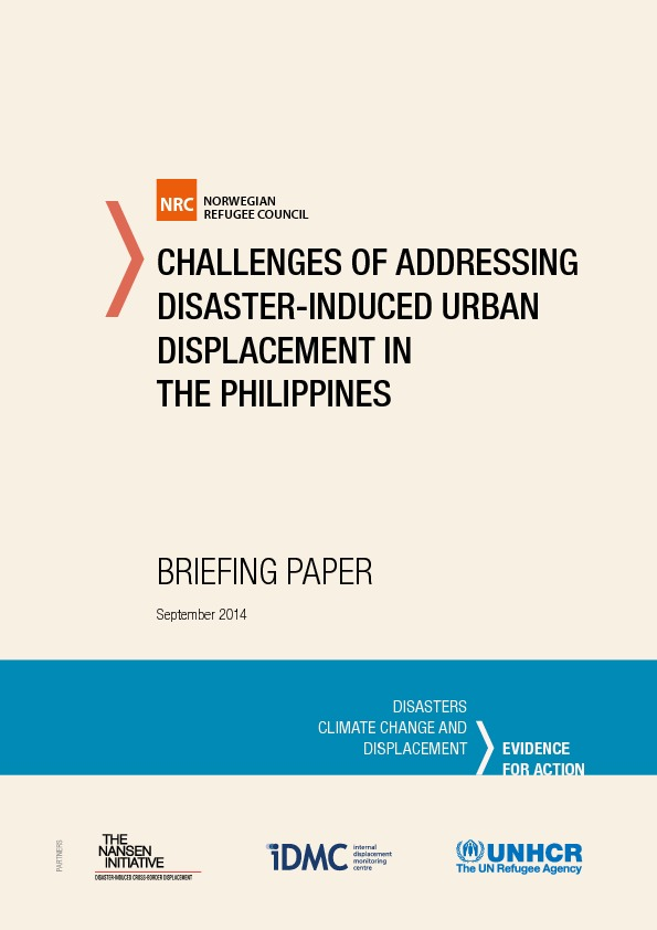 Challenges Of Addressing Disaster-induced Urban Displacement In The Philippines