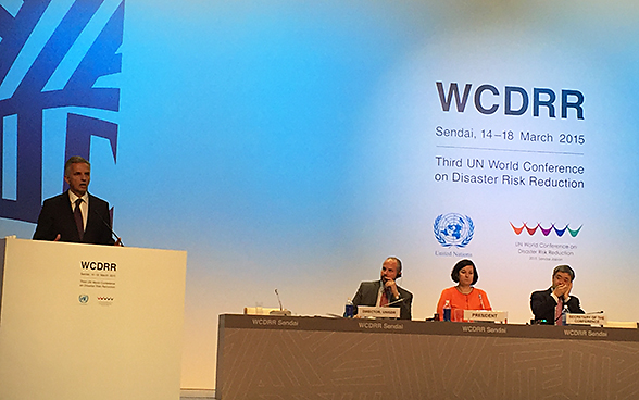 Federal Councillor Didier Burkhalter Stresses Importance Of Disaster Risk Reduction For Safeguarding Sustainable Development
