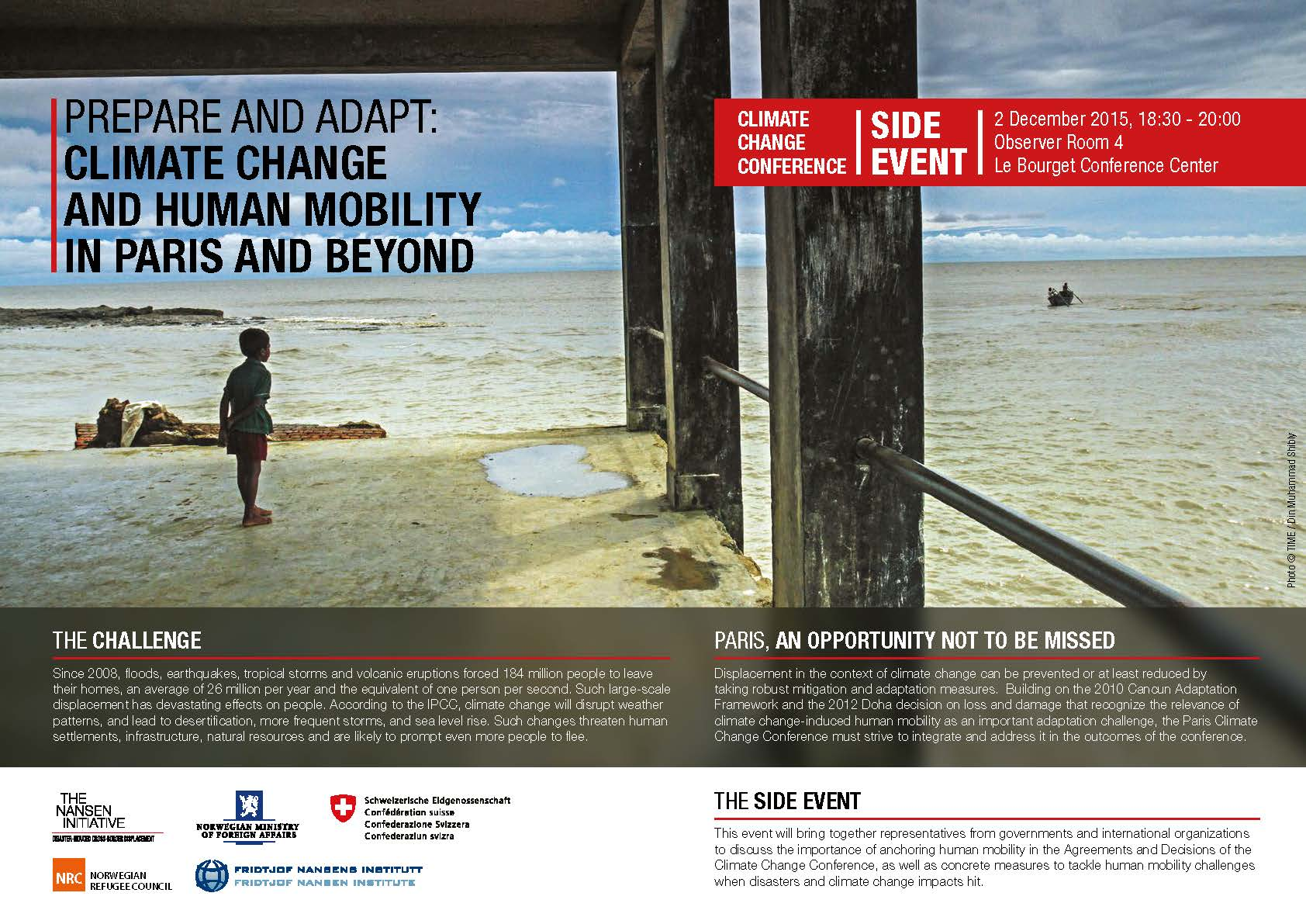 Prepare And Adapt: Climate Change And Human Mobility – In Paris And Beyond