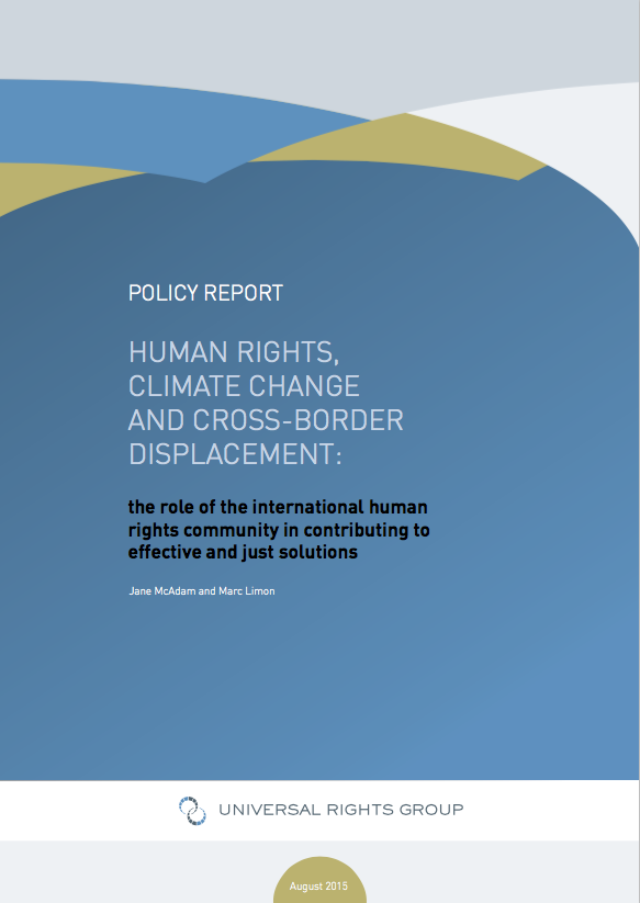 Human Rights, Climate Change And Cross-border Displacement