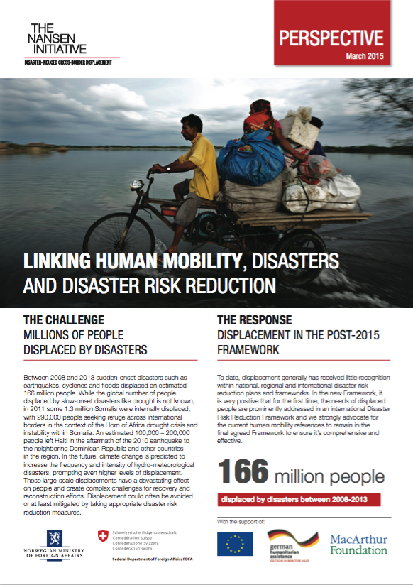 Linking Human Mobility, Disasters And DRR
