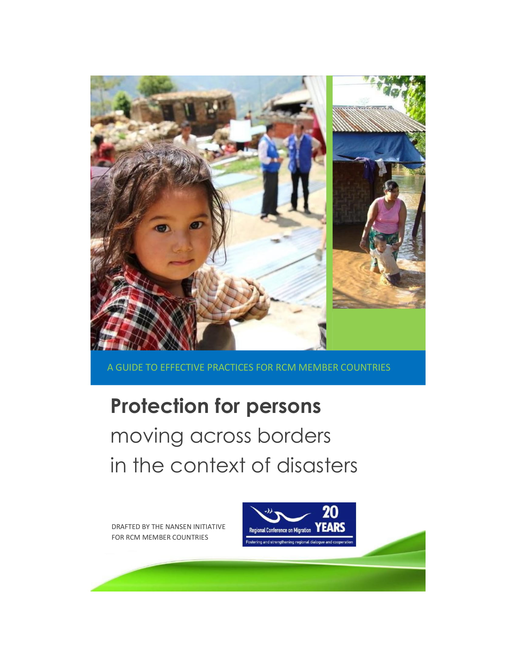 Protection For Persons  Moving Across Borders  In The Context Of Disasters