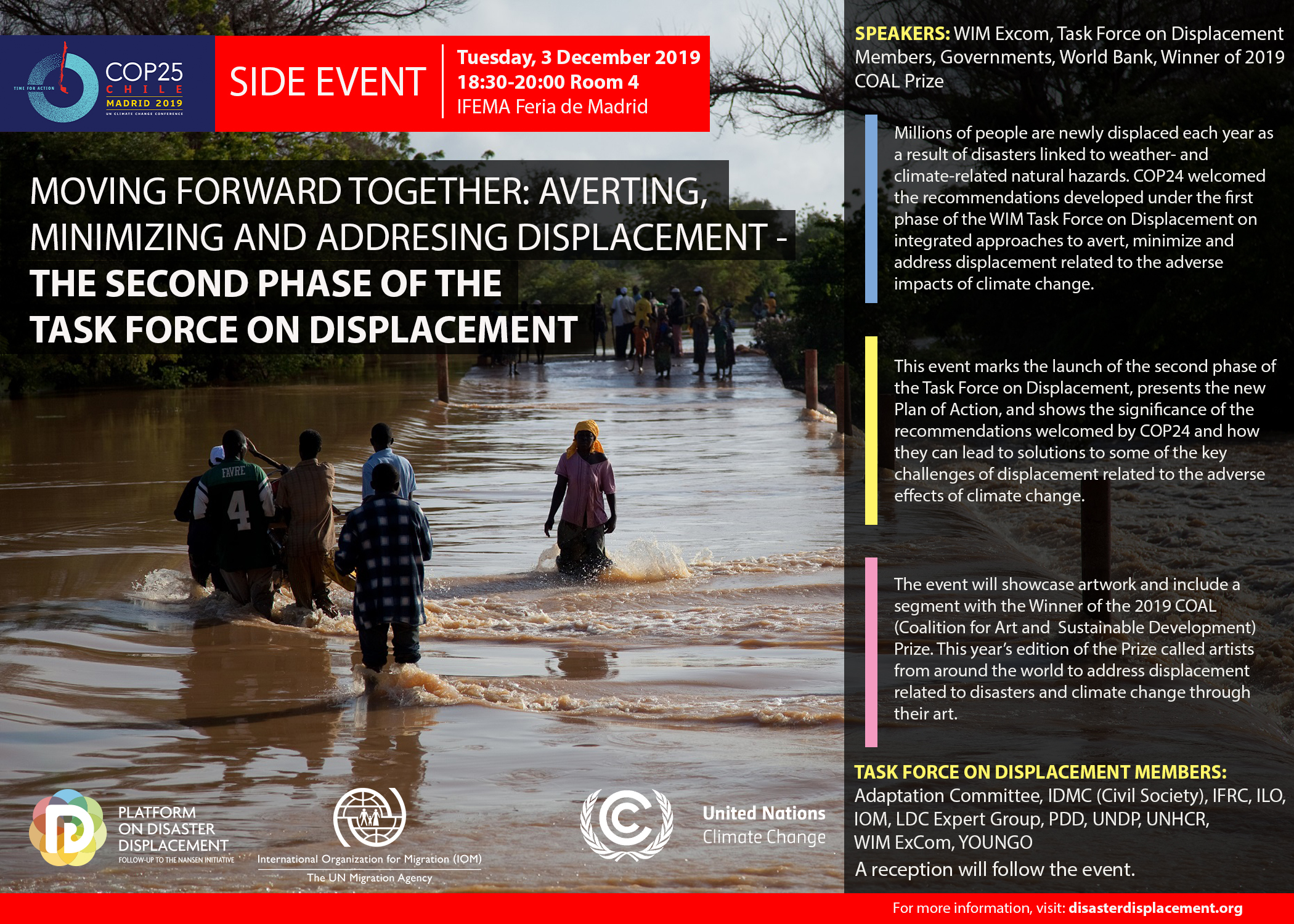 COP25 Side-event: Moving Forward Together: Averting, Minimizing And Addressing Displacement – The Second Phase Of The Task Force On Displacement