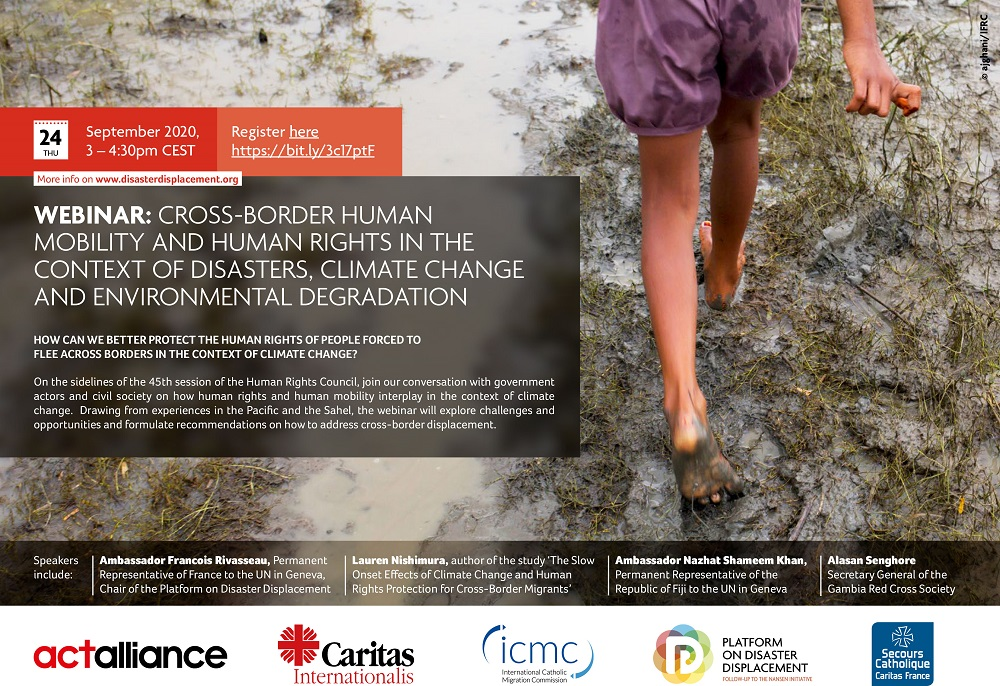 Webinar | Cross-border Human Mobility And Human Rights In The Context Of Disasters, Climate Change And Environmental Degradation