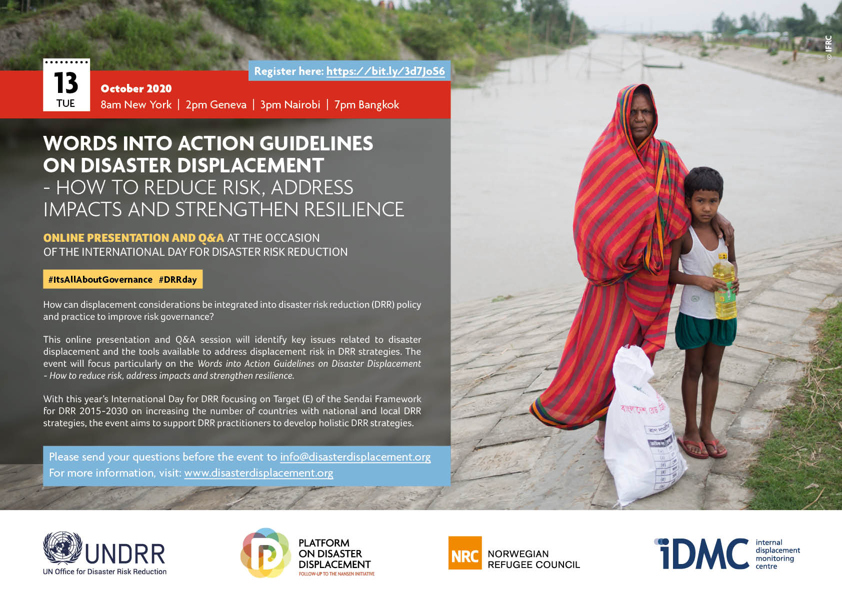 Online Presentation And Q&A On The Words Into Action Guidelines On Disaster Displacement – How To Reduce Risk, Address Impacts And Strengthen Resilience