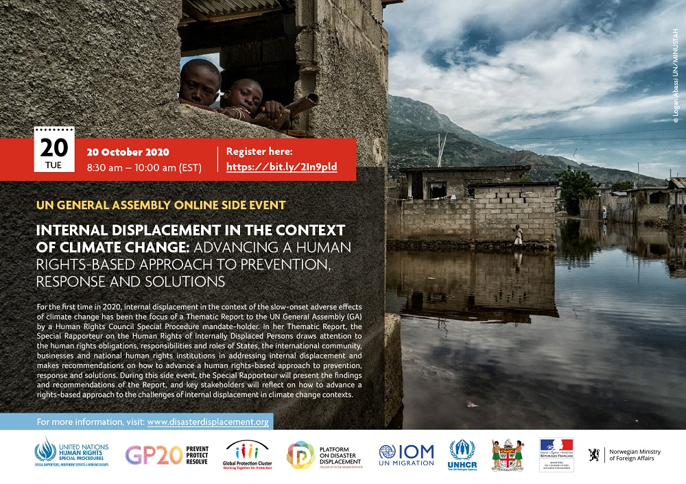 Online Side Event – Internal Displacement In The Context Of Climate Change: Advancing A Human Rights-based Approach To Prevention, Response And Solutions