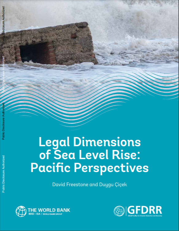 Cover Image: Rising Sea Level With Text Legal Dimensions Of Sea Level Rise: Pacific Perspectives
