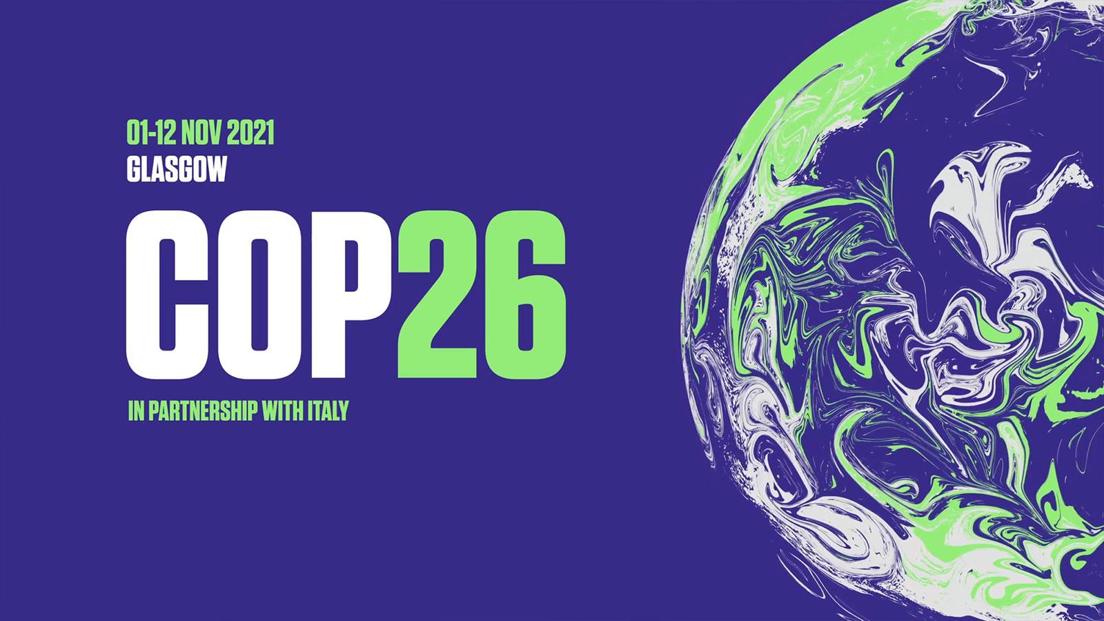 COP26 Logo Globe Plus Text
