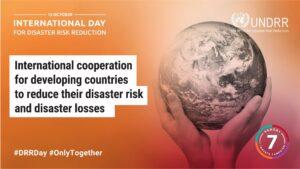 International Day for Disaster Risk Reduction banner